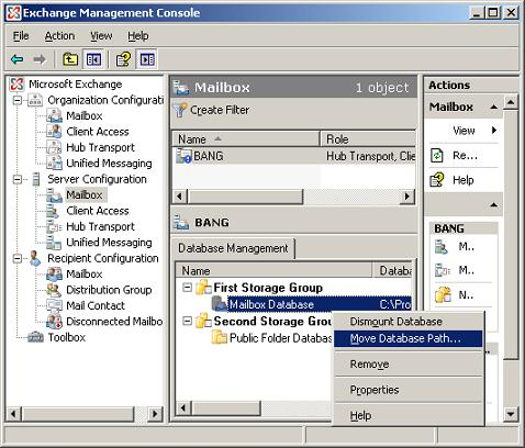 Upgrading to exchange 2007 part 2 - Exchange management console ...