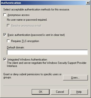 SMTP Virtual Server Inbound Authentication