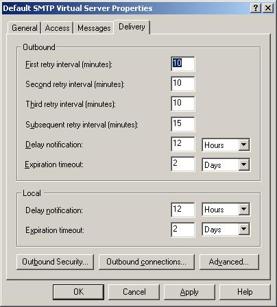 SMTP Virtual Server Delivery