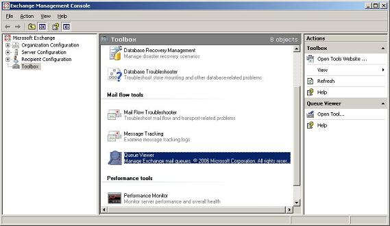 Understanding exchange 2007 queues - Exchange management console ...