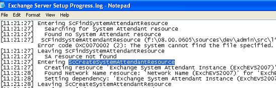 Creating Exchange System Attendant Resource Automatically