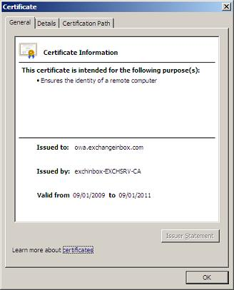 Exchangeinbox replacing the exchange 2007 self signed certificate general page yelopaper