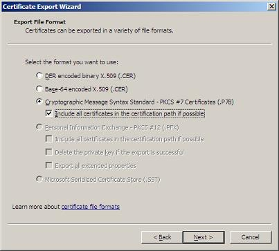 Exchangeinbox replacing the exchange 2007 self signed certificate export wizard yelopaper