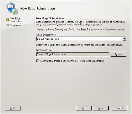 Edge Subscription Wizard