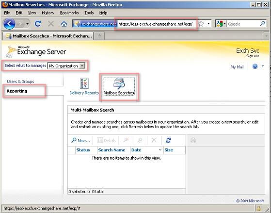 Exchange Control Panel Multi Mailbox Search