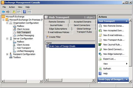 Configuring transport rules from owa ecp - Exchange management console ...