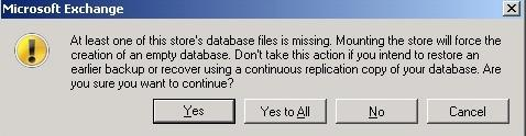 Missing Database Files