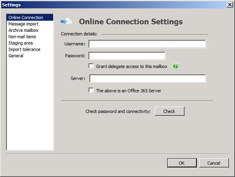 PST Capture Online Connection
