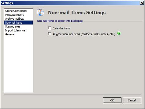 PST Capture Non-mail Items