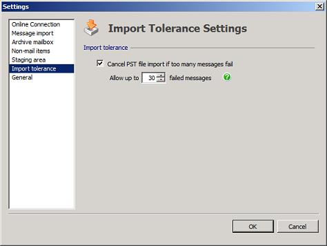 PST Capture Import Tolerance
