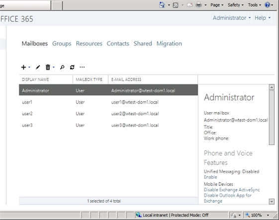 Exchange 2013 Details Pane